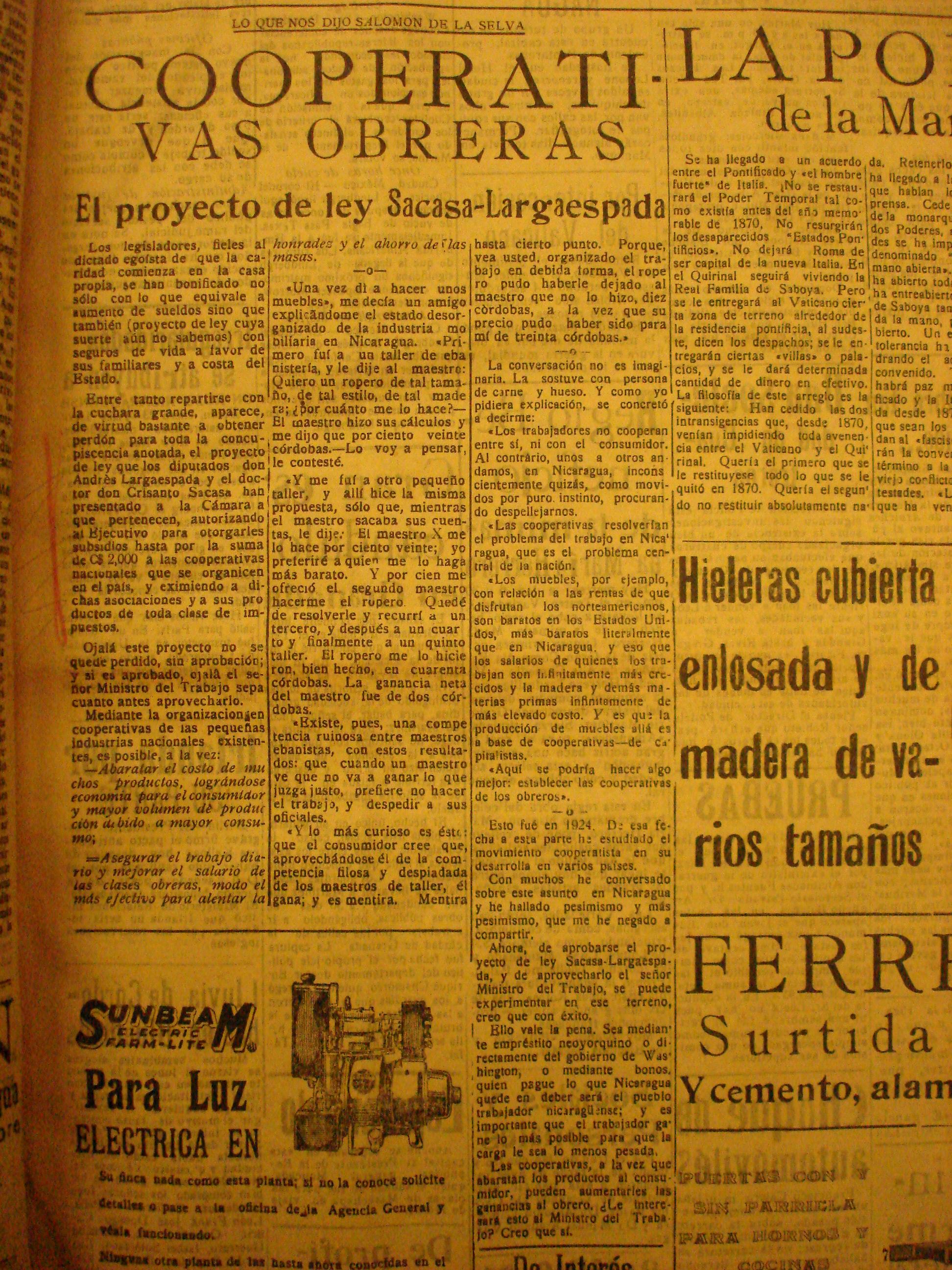 Revista de temas nicaragüenses. Dedicada a la investigación sobre ...