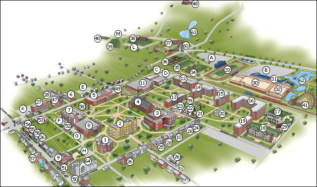 Lebanon Valley College Campus Map.The Sandino Rebellion Mike S Photos Of Lvc Feb 2008